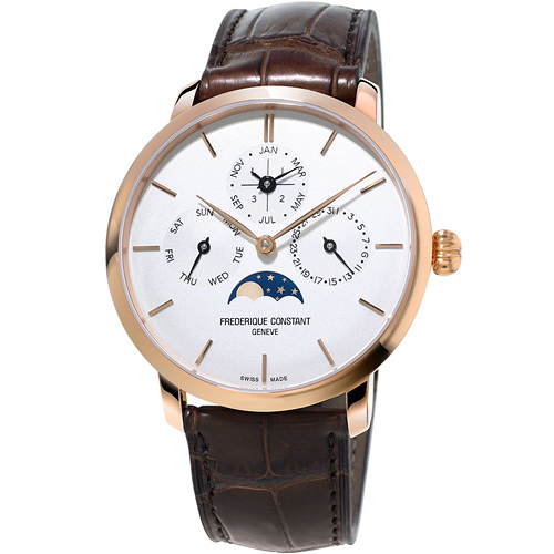 康斯登 CONSTANT Manufacture系列超薄萬年曆腕錶 FC-775V4S4
