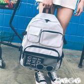 書包 書包女韓版原宿ulzzang後背包ins超火高中容量bf男學生chic大背包 新品