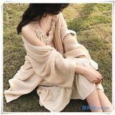 薄款慵懶鏤空開衫針織外套女寬鬆夏季防曬衣中長新款