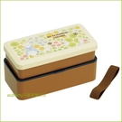 asdfkitty可愛家☆TOTORO龍貓花園雙層直接做飯糰便當盒/保鮮盒/水果盒/收納盒-附束帶-日本製