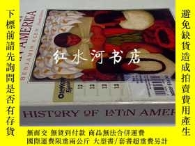二手書博民逛書店英文原版A罕見history of Latin America(
