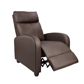 【JUSTBUY】巴斯克可調式單人沙發躺椅(4色任選)皮革棕