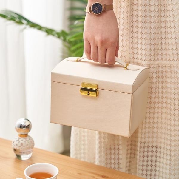 米斯語三層抽屜式大容量飾品收納盒手飾盒耳釘耳環公主珠寶首飾盒 設計師