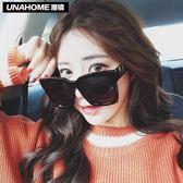 虧本衝量-太陽眼鏡 超大框太陽鏡新款黑色方形大臉墨鏡女潮正韓圓臉復古黑超眼鏡 快速出貨