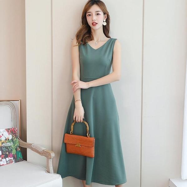 2020款春夏季新款裙子很仙小眾洋裝女裝中長裙韓版時尚打底裙晴天時尚