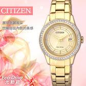 【公司貨保固】CITIZEN FE1122-88P 限量光動能女錶