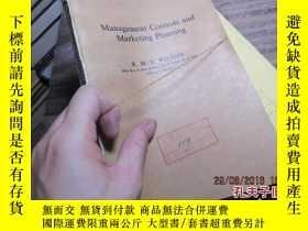 二手書博民逛書店management罕見controls and marketi