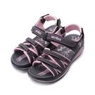 ARRIBA 雙交叉厚底涼拖鞋 紫 女鞋