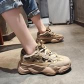老爺鞋網紅老爹鞋女韓版u百搭加絨超火運動鞋子女新款冬季伊芙莎