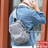 新款胸包男士韓版斜背包側背包休閒大容量背包時尚男差包 秋季新品