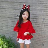 女童短袖T恤夏季上衣純棉