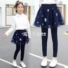 不加絨常規款 女童打底褲春衛生褲裙2020新款中大兒童假兩件裙褲薄款外穿洋氣褲子 滿天星