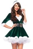 聖誕節聖誕老人服裝性感V領成人冬衣女裙【繁星小鎮】