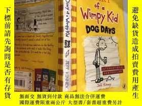 二手書博民逛書店Diary罕見of a Wimpy Kid Dog Days:懦 弱的孩子三伏天日記。,Y200392