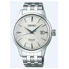 [萬年鐘錶]  PRESAGE 精工4R35 機械 男款 雪跡錶面 限量錶 日期 銀殼 銀鋼帶 SRPC97J1 (4R35-03C0S)