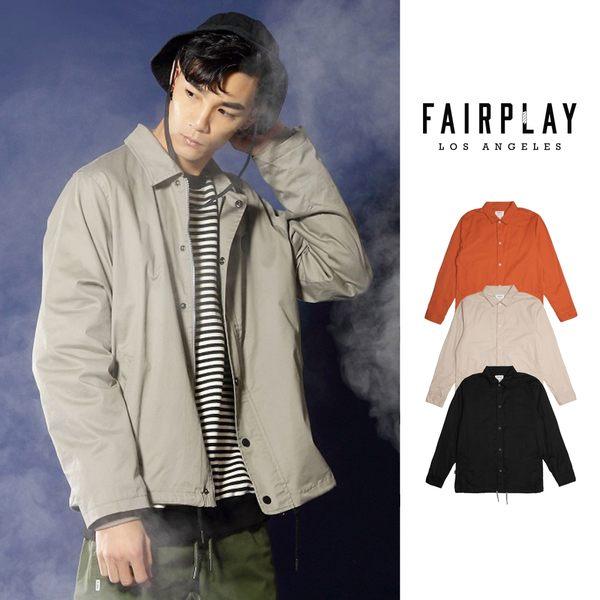 【GT】FairPlay Tauro 黑橘卡其 外套 夾克 防風 素色 鋪棉 復古 排扣 美牌 教練外套 教練夾克