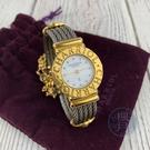 BRAND楓月 CHARRIOL 夏利豪 028/2 珍珠母貝鑽面鏈帶錶 手錶 腕錶 圓盤 金指針 整點鑽 LOGO