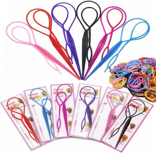 現貨-花樣盤髮器 盤髮針 魔力穿髮器 編髮器【J057】『蕾漫家』