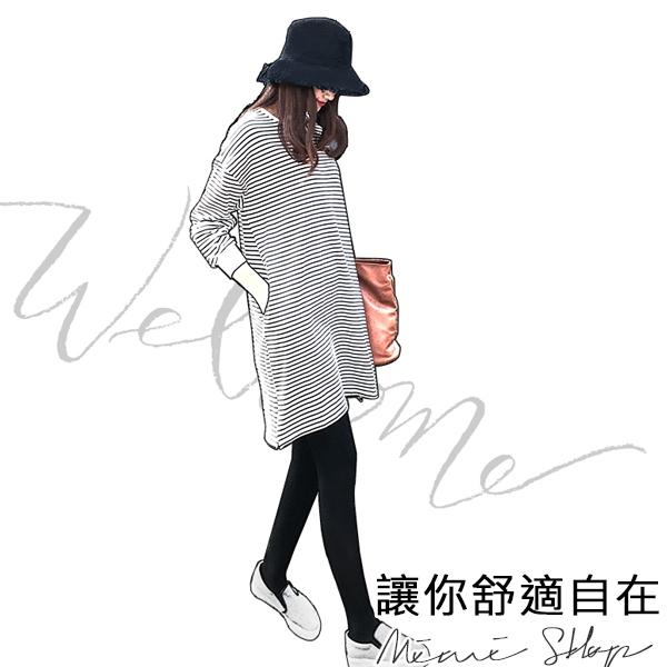 孕婦裝 MIMI別走【P52737】愛好自由的小鳳梨 繡花條紋連衣裙 孕婦裙 大尺碼