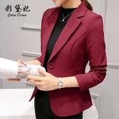 彩黛妃2019春夏新款修身韓版大碼小西裝外套長袖時尚休閒西服女
