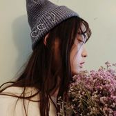 針織毛帽-韓版個性潮流鐵環女毛線帽3色73ie41[時尚巴黎]