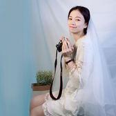 新娘韓式新款森繫頭飾簡約百搭拍照頭紗 全館免運
