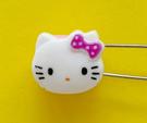 【震撼精品百貨】Hello Kitty 凱蒂貓~KITTY掀開式安全別針-大頭造型-紫#76638