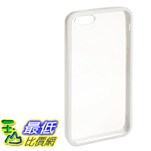 [106美國直購]  AmazonBasics 手機套 Clear Cover Case with Screen Protector for iPhone 5 (White Rim)
