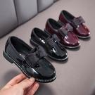女童皮鞋時尚小公主鞋英倫風演出單鞋兒童豆豆鞋【淘嘟嘟】