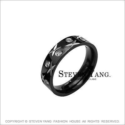 情侶對戒STEVEN YANG西德鋼飾 鋼戒指「星光璀燦」單個價格