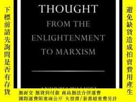 二手書博民逛書店A罕見History Of Russian Thought From The Enlightenment To M
