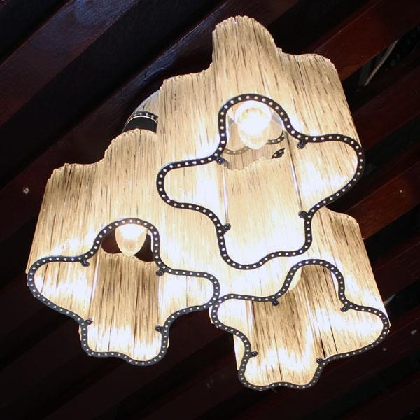藝術玻璃管花朵三頭吸頂燈─直徑38高23─E27╳3【雅典娜家飾】AGZ152