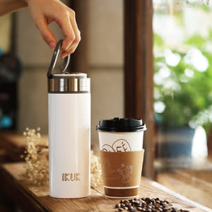 送等一個人咖啡豆【IKUK】艾可陶瓷保溫杯-大好提520ml