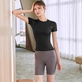 瑜伽服運動套裝女夏天跑步健身房秋冬網紅專業時尚高端速干衣夏季 怦然心動