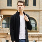 一件85折-針織外套秋季新品針織開衫男圓領厚款純色線衣外套休閒寬鬆大尺碼毛衣潮