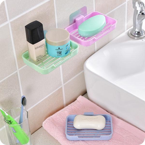 免打孔壁掛式香皂盒衛生間肥皂盒無痕貼肥皂架鏤空瀝水皂盒皂托