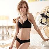 蕾絲內衣套裝(胸罩+內褲)-光面無鋼圈半罩性感內衣3色73ho32【時尚巴黎】