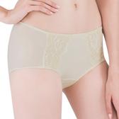 思薇爾-薔薇心系列M-XL蕾絲中低腰平口內褲(香檳金)