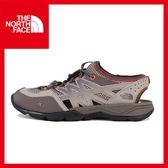 【The North Face 女 多功能水陸鞋《卡其/紅》】CCJ0/休閒/戶外/朔溪鞋/機能鞋