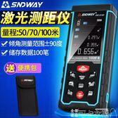 充電式激光測距儀 彩屏紅外線測距儀 電子尺測量儀 DF 可卡衣櫃