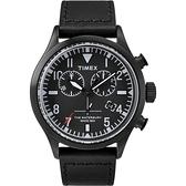 TIMEX X TODD SNYDER 刻劃時代計時皮帶腕錶-全黑