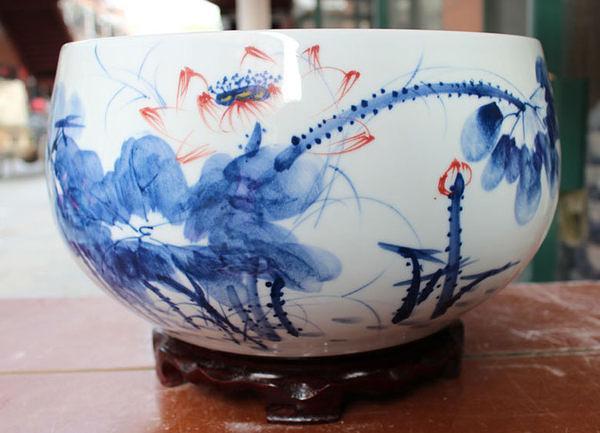 手繪青花瓷 花瓶 景德鎮 陶瓷精品