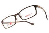 Alphameer 光學眼鏡 AM3501 C114 (棕-金) 記憶塑鋼簡約方框款 平光鏡框 #金橘眼鏡