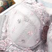 女士內衣有鋼圈薄款透氣大胸顯小胖mm大碼超薄聚攏性感蕾絲文胸罩