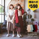 韓版質感柔軟針織長版罩衫-N-Rainbow【A09183】
