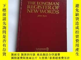二手書博民逛書店THE罕見LONGMAN REGISTER OF NEW WOR