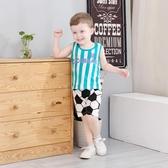 齊齊熊0-3歲男女童夏裝純棉運動背心套裝嬰兒寶寶薄款球衣兩件套 【快速出貨】