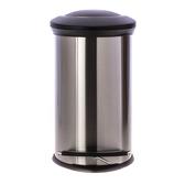 HOLA 紐約緩降防指紋垃圾桶12L-銀
