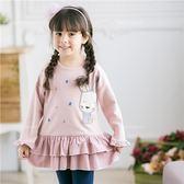 田園花布兔蛋糕層次長版上衣洋裝(240388)★水娃娃時尚童裝★