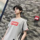 T恤 男士短袖T恤夏季寬鬆圓領T恤韓版青...